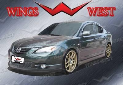 3 4Dr HB - Front Bumper - VIS Racing - Mazda 3 4DR HB VIS Racing VIP Front Lip - Polyurethane - 890924