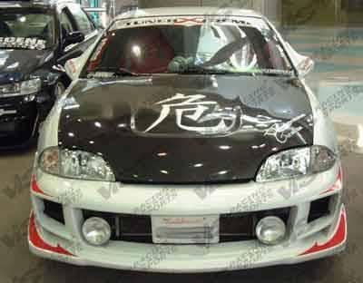 Cavalier 2Dr - Front Bumper - VIS Racing - Chevrolet Cavalier VIS Racing Ballistix Front Bumper - Polyurethane - 00CHCAV2DBX-001P
