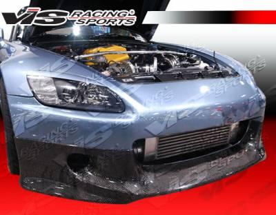 S2000 - Front Bumper - VIS Racing - Honda S2000 VIS Racing JS Carbon Fiber Lip - 00HDS2K2DJS-011C