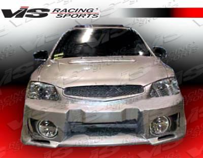 Accent 2Dr - Front Bumper - VIS Racing - Hyundai Accent 2DR VIS Racing Evo 5 Front Bumper - 00HYACC2DEVO5-001