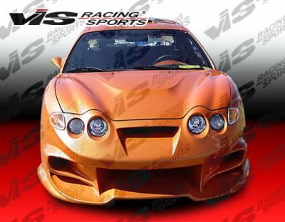 Tiburon - Front Bumper - VIS Racing - Hyundai Tiburon VIS Racing Invader-2 Front Bumper - 00HYTIB2DINV2-001