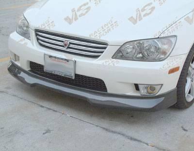 IS - Front Bumper - VIS Racing - Lexus IS VIS Racing V-Spec Carbon Fiber Lip - 00LXIS34DVSC-011C