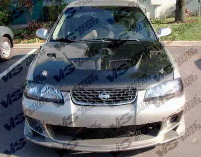 Sentra - Front Bumper - VIS Racing - Nissan Sentra VIS Racing Ballistix Front Bumper - 00NSSEN4DBX-001