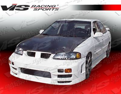Sentra - Front Bumper - VIS Racing - Nissan Sentra VIS Racing EVO-4 Front Bumper - 00NSSEN4DEVO4-001