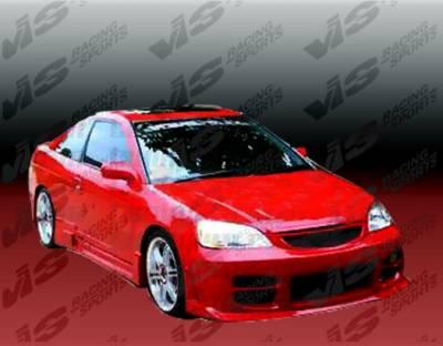 Civic 2Dr - Front Bumper - VIS Racing - Honda Civic 2DR & 4DR VIS Racing Octane Front Bumper - Polyurethane - 01HDCVC2DOCT-001P