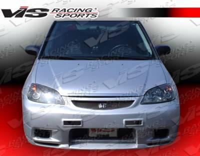 Civic 2Dr - Front Bumper - VIS Racing - Honda Civic 2DR & 4DR VIS Racing Omega Front Bumper - Polyurethane - 01HDCVC2DOMA-001P