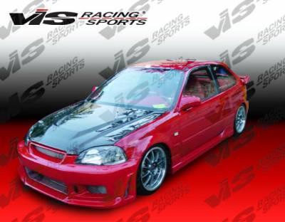 Civic 2Dr - Front Bumper - VIS Racing - Honda Civic 2DR & 4DR VIS Racing Tracer-2 Front Bumper - 01HDCVC2DTRA2-001