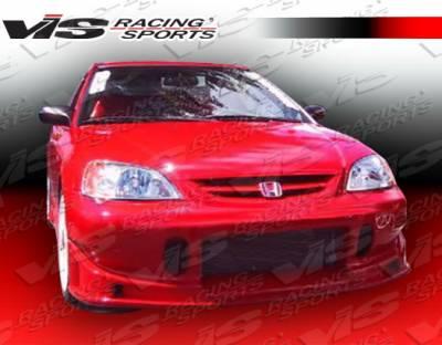 Civic 2Dr - Front Bumper - VIS Racing - Honda Civic 2DR & 4DR VIS Racing TSC Front Bumper - 01HDCVC2DTSC-001