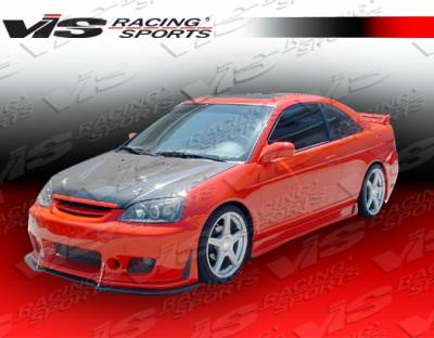 Civic 2Dr - Front Bumper - VIS Racing - Honda Civic 2DR & 4DR VIS Racing TSC-3 Front Bumper - 01HDCVC2DTSC3-001