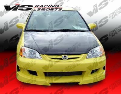 Civic 2Dr - Front Bumper - VIS Racing - Honda Civic 2DR & 4DR VIS Racing Viper Front Bumper - 01HDCVC2DVR-001
