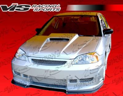 Civic 2Dr - Front Bumper - VIS Racing - Honda Civic 2DR & 4DR VIS Racing Z1 boxer Front Bumper - 01HDCVC2DZ1-001