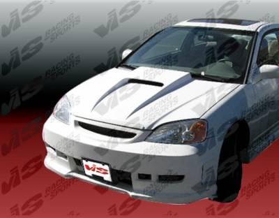 Civic 2Dr - Front Bumper - VIS Racing - Honda Civic 2DR & 4DR VIS Racing Z1 Boxer Front Bumper - Polyurethane - 01HDCVC2DZ1-001P