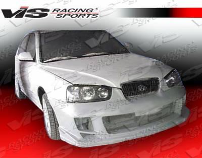 Elantra 4Dr - Front Bumper - VIS Racing - Hyundai Elantra 4DR VIS Racing Ballistix Front Bumper - 01HYELA4DBX-001