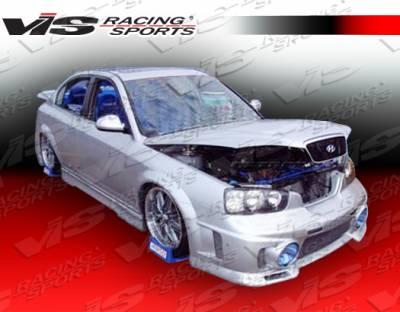 Elantra 4Dr - Front Bumper - VIS Racing - Hyundai Elantra 4DR VIS Racing EVO-3 Front Bumper - 01HYELA4DEVO3-001
