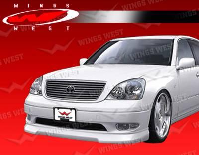 LS - Front Bumper - VIS Racing - Lexus LS VIS Racing JPC Front Lip - Polyurethane - 01LXLS44DJPC-011P