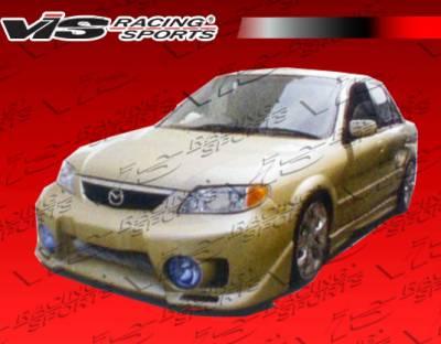 Protege - Front Bumper - VIS Racing - Mazda Protege VIS Racing EVO-5 Front Bumper - 01MZ3234DEVO5-001