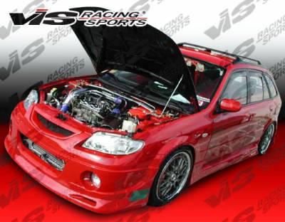 Protege - Front Bumper - VIS Racing - Mazda Protege VIS Racing Spike Front Bumper - 01MZ3234DSPK-001