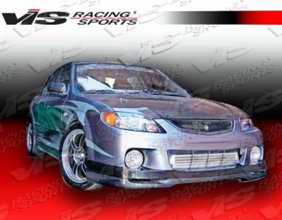 Protege - Front Bumper - VIS Racing - Mazda Protege VIS Racing Spike Front Lip - 01MZ3234DSPK-011