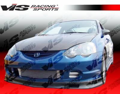 RSX - Front Bumper - VIS Racing - Acura RSX VIS Racing Type-S Carbon Fiber Lip - 02ACRSX2DSPN-011C