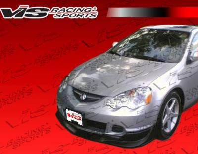 RSX - Front Bumper - VIS Racing - Acura RSX VIS Racing Tracer 2 Carbon Fiber Lip - 02ACRSX2DTRA2-011C