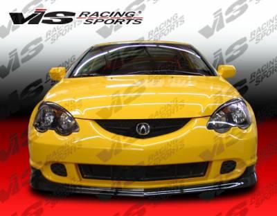 RSX - Front Bumper - VIS Racing - Acura RSX VIS Racing Type-R Carbon Fiber Lip - 02ACRSX2DTYR-011C
