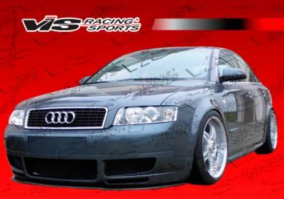 A4 - Front Bumper - VIS Racing. - Audi A4 VIS Racing RSR Front Lip - 02AUA44DRSR-011