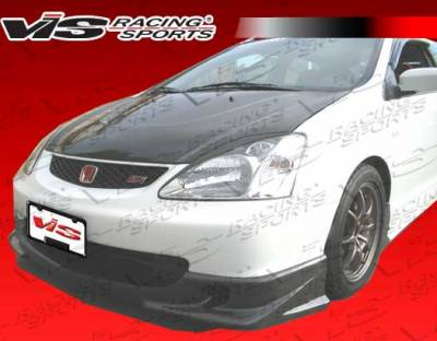 Civic HB - Front Bumper - VIS Racing - Honda Civic HB VIS Racing Techno-R Carbon Fiber Front Lip - 02HDCVCHBJTNR-011C