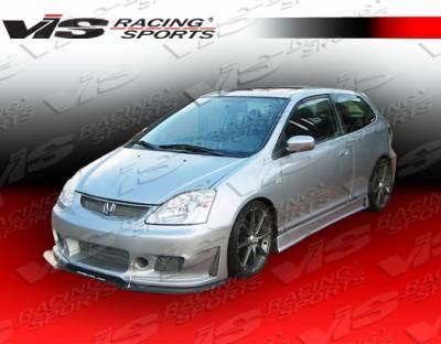 Civic HB - Front Bumper - VIS Racing - Honda Civic HB VIS Racing TSC-3 Front Bumper - 02HDCVCHBTSC3-001
