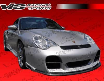 911 - Front Bumper - VIS Racing - Porsche 911 VIS Racing A-Tech GT Front Bumper with Carbon Fiber Accent - 02PS996T2DATHGT-001CC