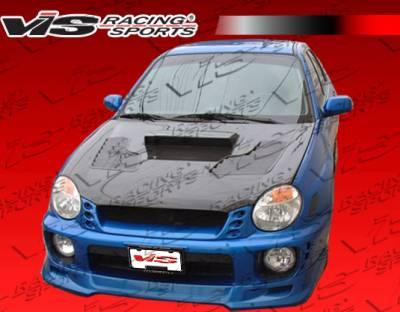 WRX - Front Bumper - VIS Racing - Subaru WRX VIS Racing Terminator Carbon Fiber Lip - 02SBWRX4DTM-011C