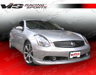 G35 2Dr - Front Bumper - VIS Racing - Infiniti G35 2DR VIS Racing JDM Style Front Lip - Polyurethane - 03ING352DJDM-011P
