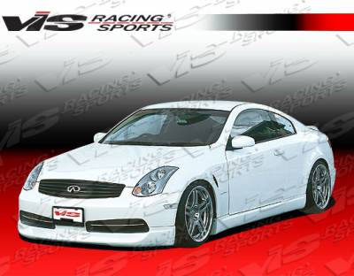 G35 2Dr - Front Bumper - VIS Racing - Infiniti G35 2DR VIS Racing Wings Front Lip - 03ING352DWIN-011
