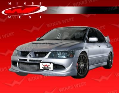 Lancer - Front Bumper - VIS Racing - Mitsubishi Lancer VIS Racing Invader Front Lip - 03MTEV84DJPC-011P