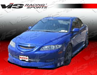 6 4Dr - Front Bumper - VIS Racing - Mazda 6 VIS Racing Techno R Front Lip - 03MZ64DTNR-011