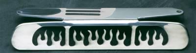 Headlights & Tail Lights - Third Brake Lights - All Sales - All Sales Third Brake Light Cover - Flame Design - Polished - 55015P
