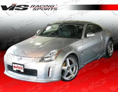 350Z - Front Bumper - VIS Racing - Nissan 350Z VIS Racing Invader Type 1 Carbon Fiber Lip - 03NS3502DINV1-011C