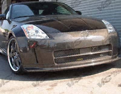 350Z - Front Bumper - VIS Racing - Nissan 350Z VIS Racing Techno R Front Bumper - Carbon Fiber - 03NS3502DTNR-001C