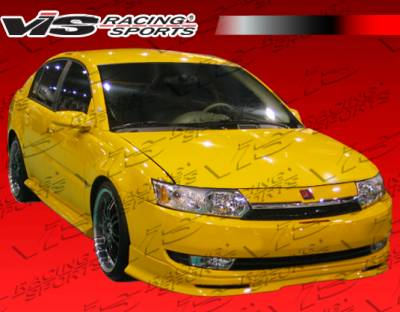 Ion - Front Bumper - VIS Racing - Saturn Ion VIS Racing Type-W Front Lip - Urethane Material - 03SAION4DTYW-011
