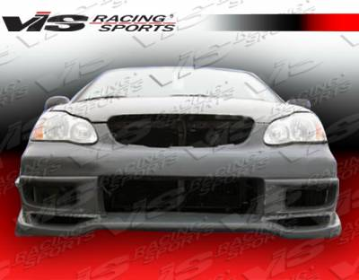 Corolla - Front Bumper - VIS Racing - Toyota Corolla VIS Racing Cyber Front Bumper - 03TYCOR4DCY-001