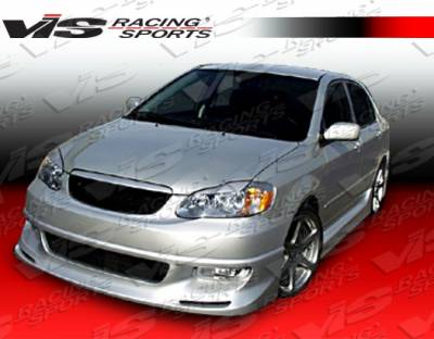 Corolla - Front Bumper - VIS Racing - Toyota Corolla VIS Racing Techno R-1 Front Lip - 03TYCOR4DTNR1-011