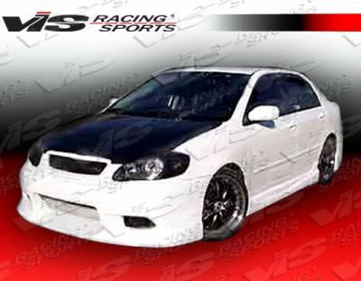 Corolla - Front Bumper - VIS Racing - Toyota Corolla VIS Racing Tracer Front Bumper - 03TYCOR4DTRA-001