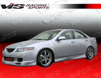 TSX - Front Bumper - VIS Racing - Acura TSX VIS Racing Techno R-2 Front Lip - 04ACTSX4DTNR2-011