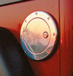 Accessories - Fuel Tank Caps - All Sales - All Sales Billet Fuel Door - Brushed with Lock - 6051L