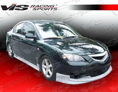 3 4Dr - Front Bumper - VIS Racing - Mazda 3 4DR VIS Racing Fuzion Front Lip - 04MZ34DFUZ-011
