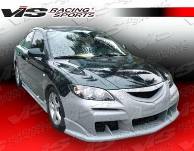 3 4Dr - Front Bumper - VIS Racing - Mazda 3 4DR VIS Racing Laser Front Bumper - 04MZ34DLS-001