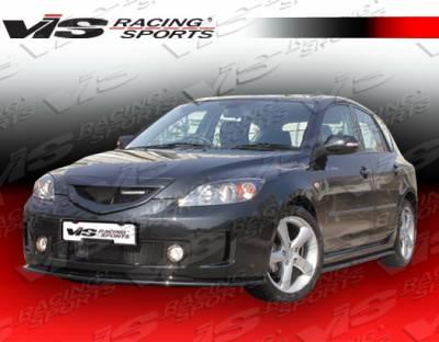 3 4Dr HB - Front Bumper - VIS Racing - Mazda 3 4DR HB VIS Racing A Spec Front Bumper - 04MZ3HBASC-001