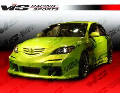 3 4Dr HB - Front Bumper - VIS Racing - Mazda 3 4DR HB VIS Racing Laser Front Bumper - 04MZ3HBLS-001