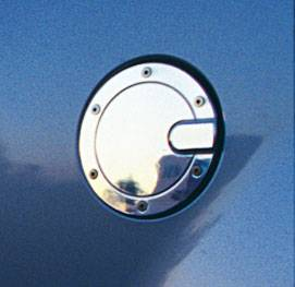 Accessories - Fuel Tank Caps - All Sales - All Sales Billet Fuel Door - Chrome - 6092CNL
