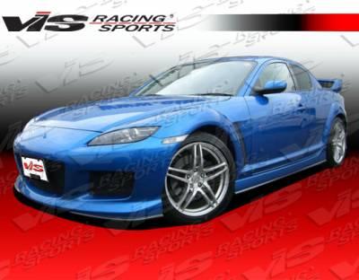 RX8 - Front Bumper - VIS Racing - Mazda RX-8 VIS Racing Magnum Front Bumper - Polyurethane - 04MZRX82DMAG-001P