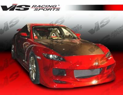 RX8 - Front Bumper - VIS Racing - Mazda RX-8 VIS Racing Razor Front Bumper - 04MZRX82DRAZ-001